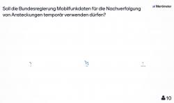Mentimeter-Umfrage zur Nachverfolgung durch Mobilfunkdaten