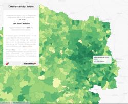 (c) Invenium: Österreich bleibt daheim - Kartenausschnitt Ostregion