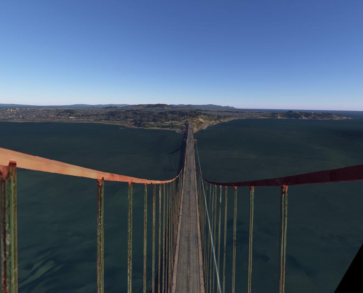 Spaziergang auf der Golden Gate Bridge