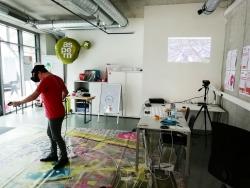 Gerfried mit VR-Brille