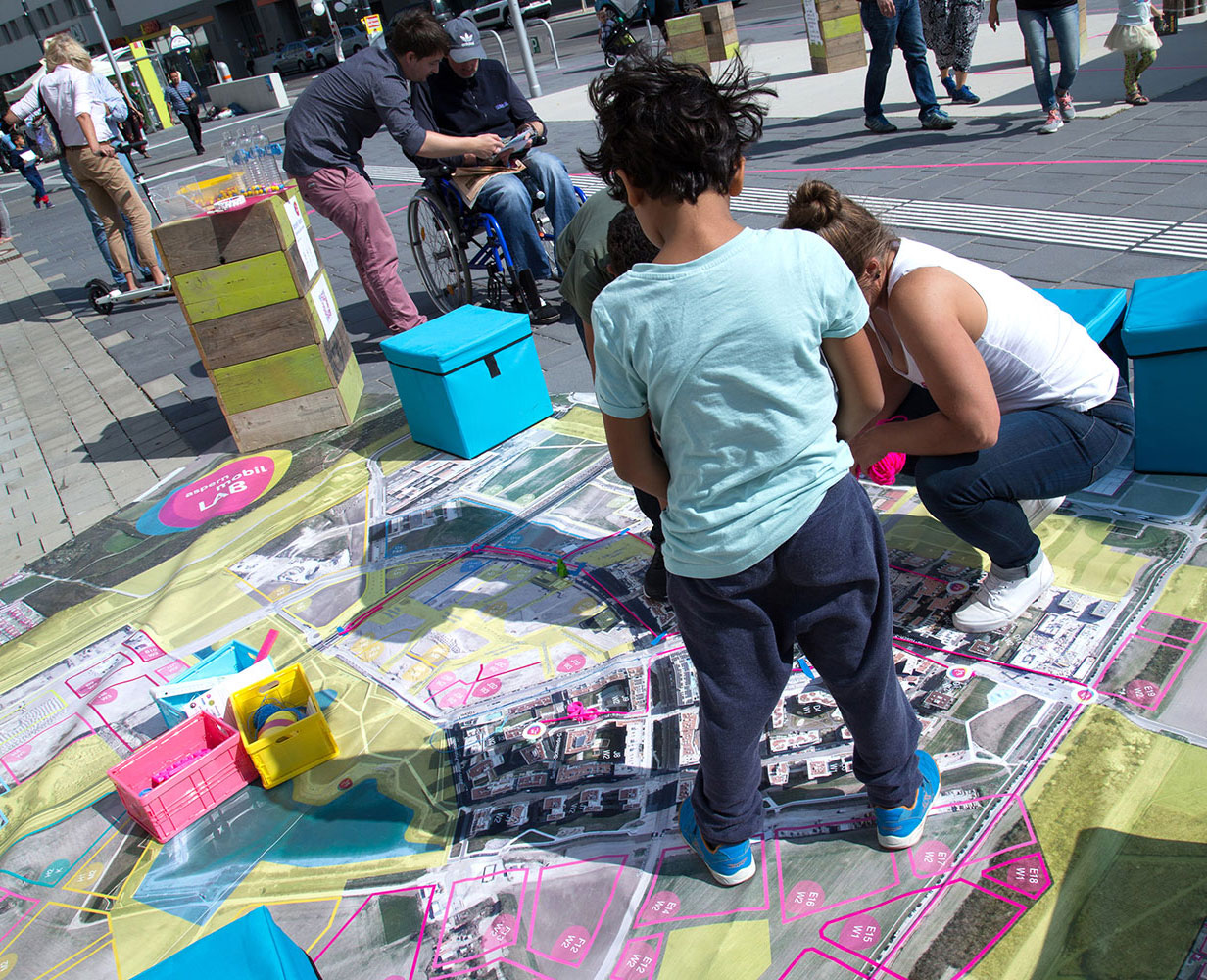 Das aspern.mobil LAB beim Straßenfest 2017
