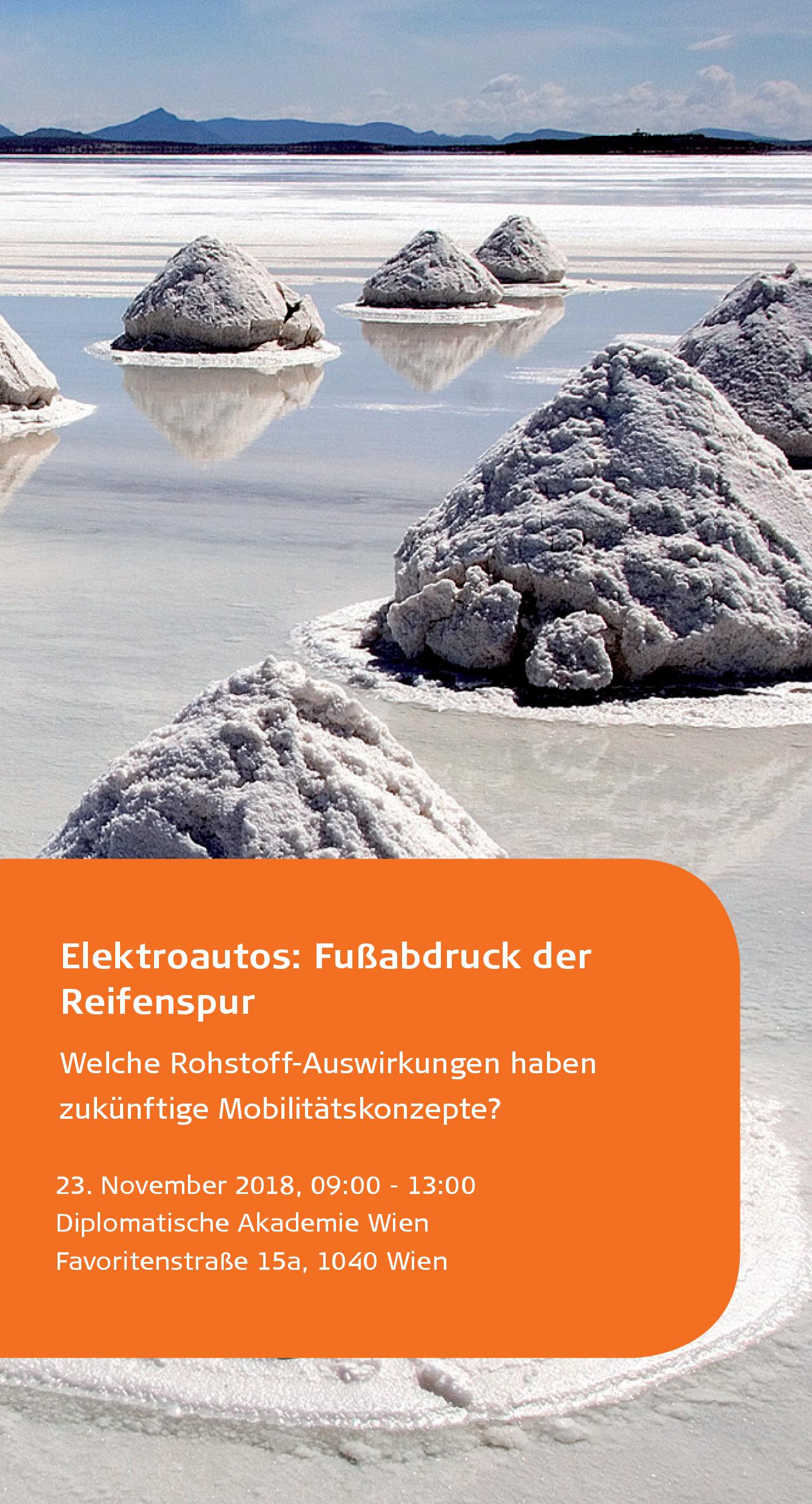 Einladung: Elektroautos - Fußabdruck der Reifenspur