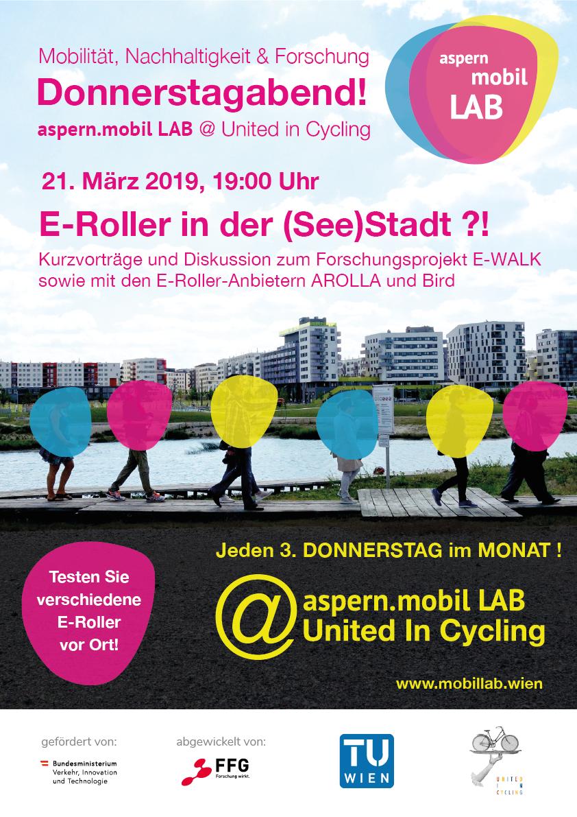 Plakat zur Veranstaltung E-Roller in der (See)Stadt ?!
