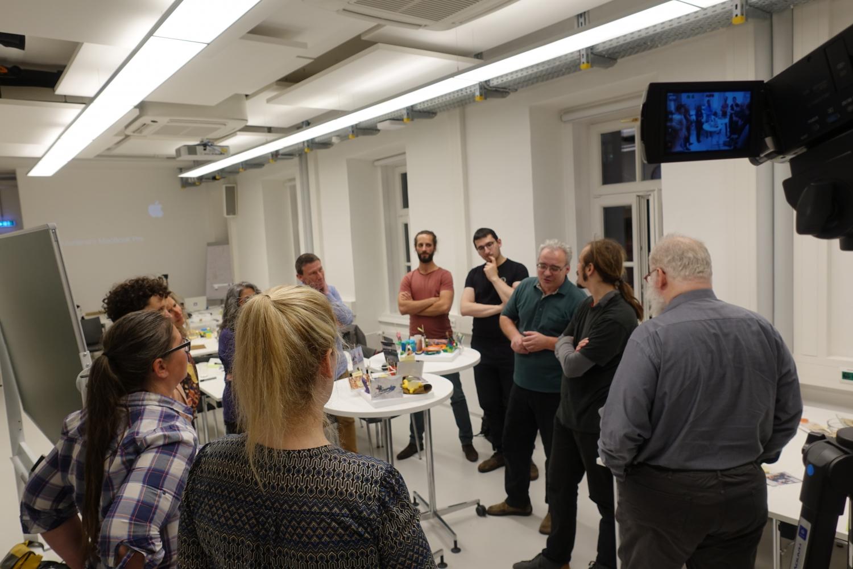 TeilnehmerInnen der Laborstunde Grätzlhub