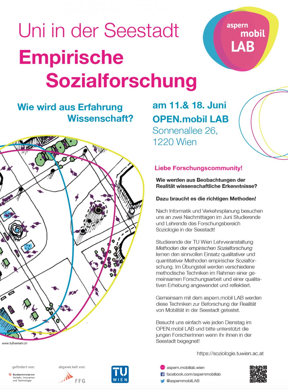 Poster zur Veranstaltung Uni in der Seesdtat - Empiirische Sozialforschung