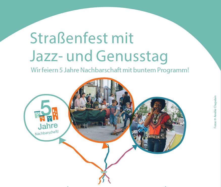 Plakat zum Straßenfest in der Seestadt