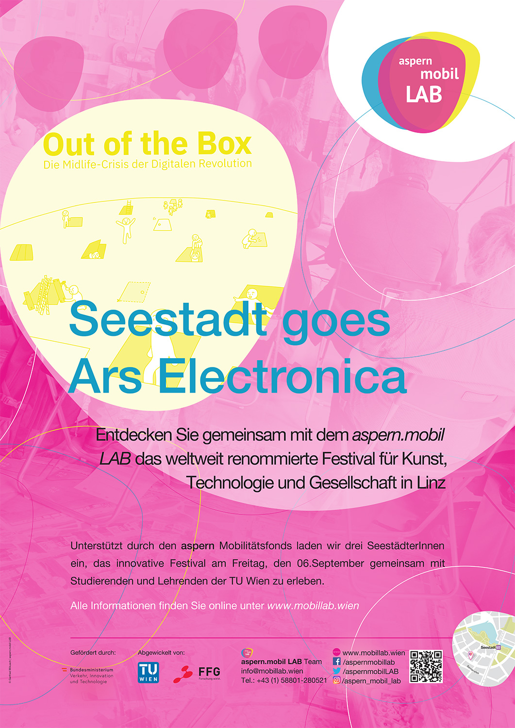 Plakat Seestadt goes Ars Electronica