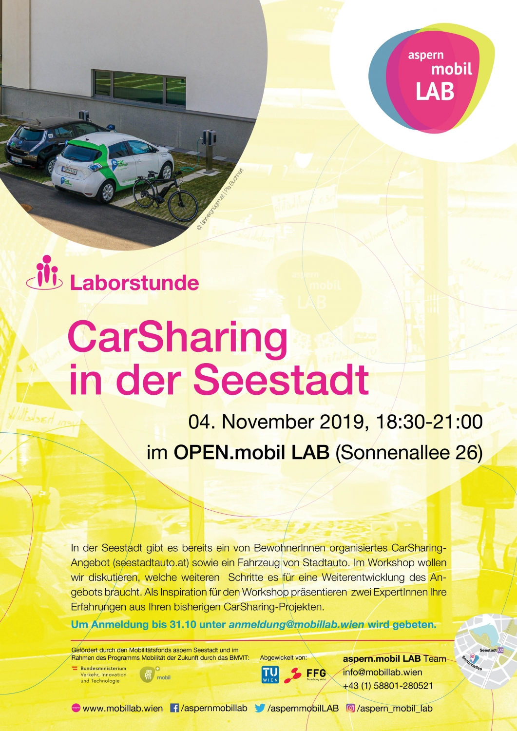 Plakat Laborstunde CarSharing